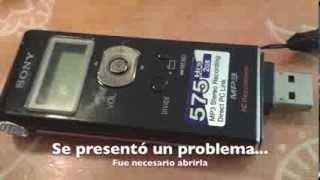 Cómo abrir grabadora Sony ICD UX81