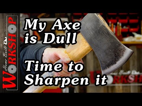 How to Sharpen an Axe (Its Easy)