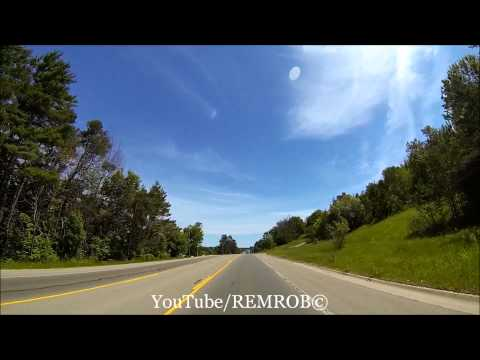 Driving From Walloon Lake To Pellston Airport, MI.