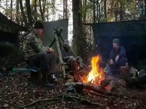 Two nights wild camping . //Hammocks// Tarps // camp fire cooking// woodland camping//bushcraft chai