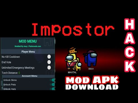 Among Us Hack No Kill Cooldown Hack Moded By Axey Pmt How To Become Imposter Always Youtube