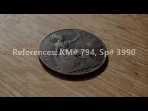 1 Penny Edward VII 1906 United Kingdom