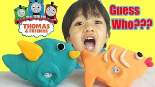PLAY DOH THOMAS & FRIENDS GUESSING GAME! Guess the Engine Surprise Thomas the  Engine learning game thumbnail