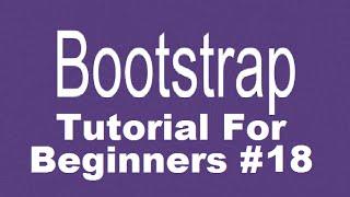 Bootstrap Tutorial Voor Beginners 18 - Bootstrap Modaal (dialoog venster of pop-up venster)