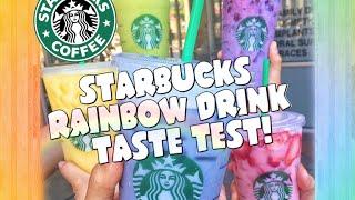STARBUCKS RAINBOW DRINKS TASTE TEST