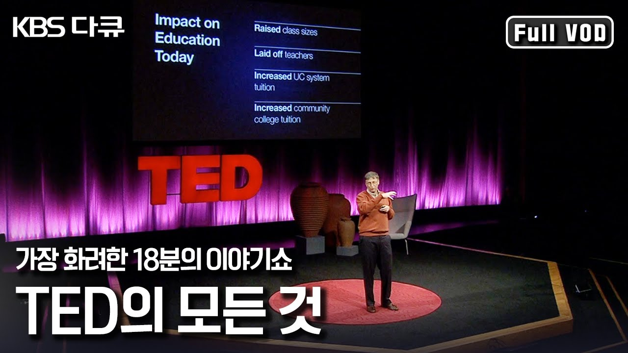 "TED 강연에 선 빌 게이츠부터 스티븐 호킹까지! 18분의 마법이 만들어지기까지 ""세상을 바꾸는 18분의 기적 TED"" (KBS 120923 방송)"