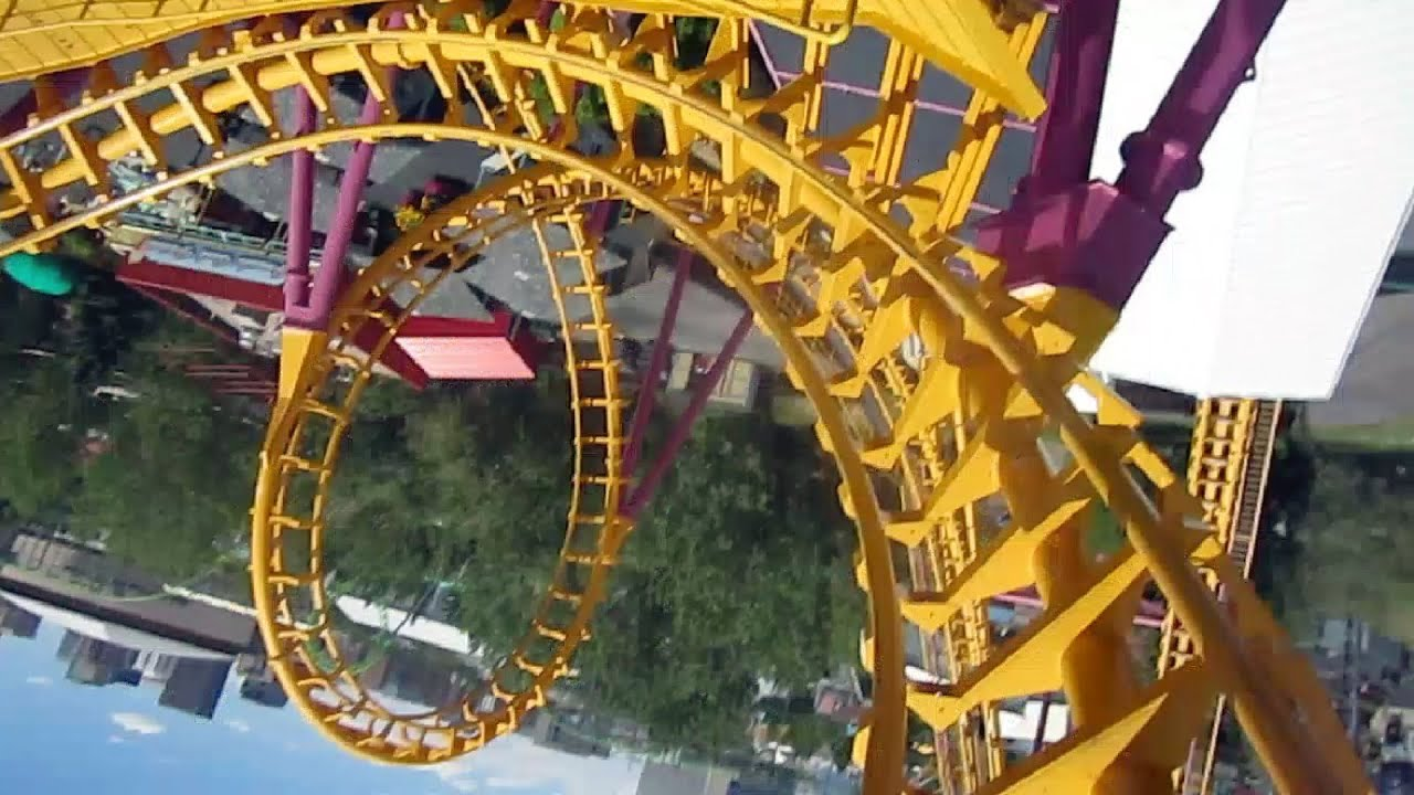 Boomerang Front Seat On Ride HD POV Elitch Gardens   YouTube