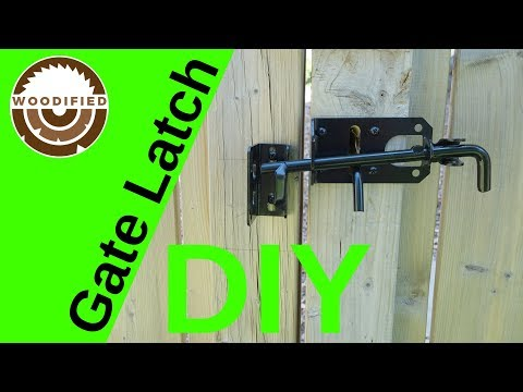How To Install A Gate Latch On A Wood Fence