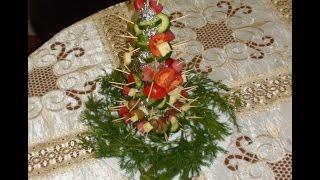 Украшение для, праздничного стола, Салaт елка