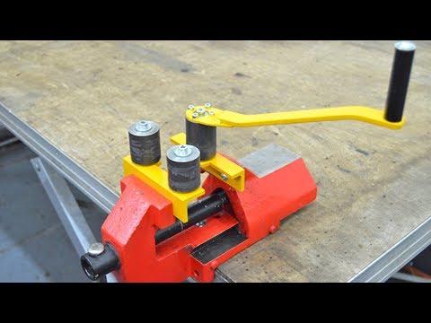 Roller Bender for use in a Vice - Homemade - Rundbiegemaschine