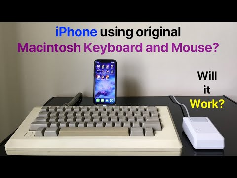 Original Macintosh keyboard takes control of iPhone