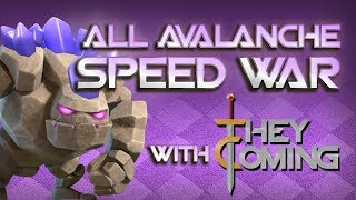 TOWN HALL 9 AVALANCHE SPEED WAR! 2 HOURS, 40 ATTACKS - Clash of Clans