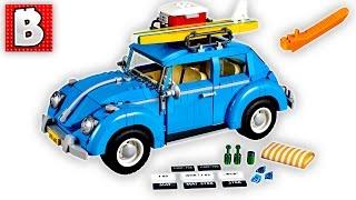 Lego Creator Volkswagen Beetle Set 10252   Unbox Build Time Lapse Review
