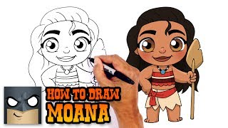 How to Draw Moana | Disney