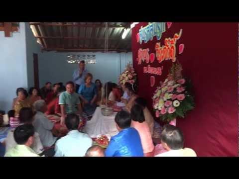 รดน้ําสังข์ Thai wedding ceremony