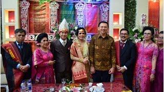 Ahok di Pesta Pernikahan Adat Batak
