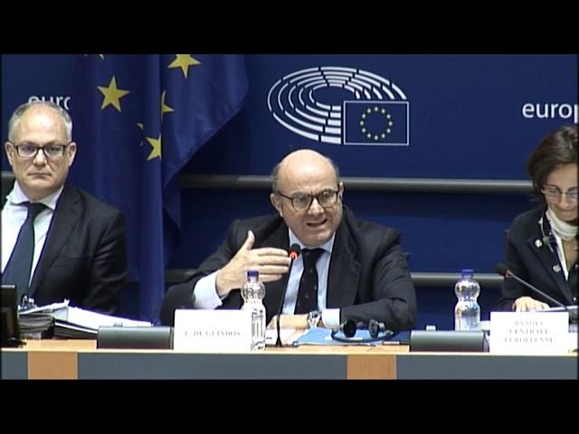 Pregunta a Luis de Guindos, Vicepresidente del BCE