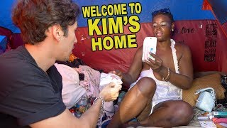 HOMELESS WOMAN TENT TOUR (+ MUKBANG)