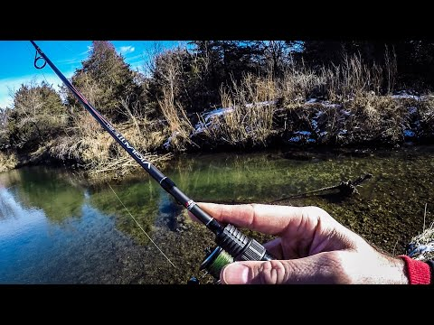 Fishing TINY Clear Creeks For A NEW Species (Winter Fishing In Iowa)