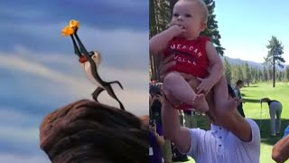 Justin Timberlake Lifts Baby Just Like In 'The Lion King'