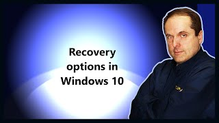 Recovery options in Windows 10
