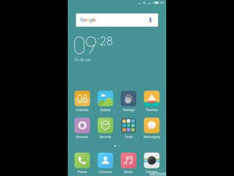 How to turn on shortcut menu for xiaomi Android mobiles