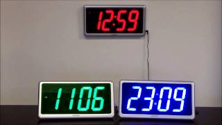Ivation Large Display Electric Led Wall / Table Clock With Remote Control