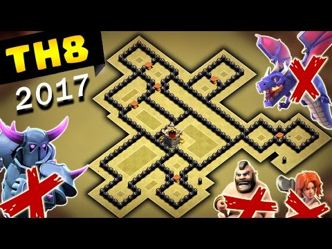 New TH8 War Base BOMB TOWER 2017 | Anti 3 Star + Proof Replays | Clash of Clans