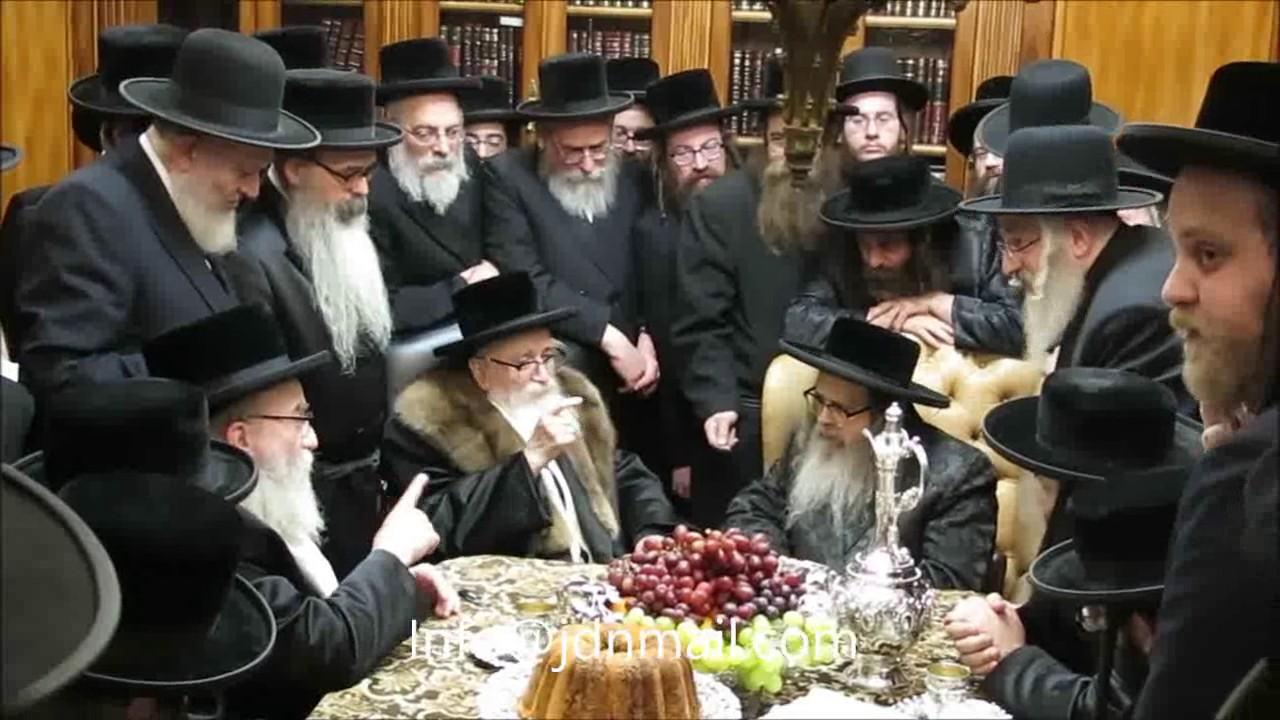 Skver Rebbe Visiting The Satmar Rebbe - Kislev 5777