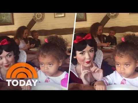 Little Girl Unimpressed By Snow White, Just Wants To Eat Her