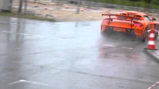 KTM X-Bow Chasing Tuned Königseder LMP Porsche Carrera GT Drifting In The Rain!