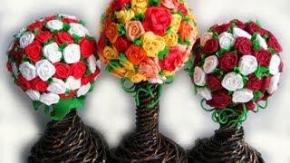 ▬► Цветы из бумаги. Часть IV. Топиарий / Flower topiary