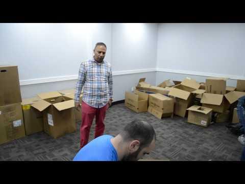 Humanitarian and Charitable causes Dr  Bobby K  Kalotee joined JBF to pack and ship baseball bats an