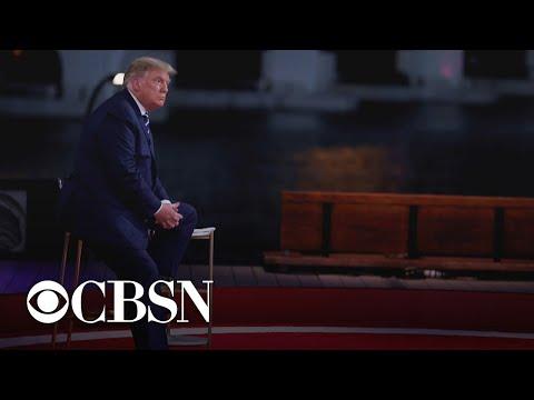 Trump grilled on COVID-19, QAnon, personal …