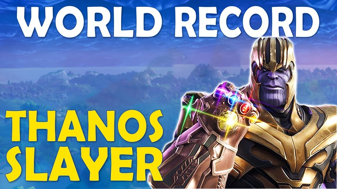 NEW WORLD RECORD TIE | MOST THANOS KILLS IN A GAME | BUILD BATTLES - (Fortnite Battle Royale)