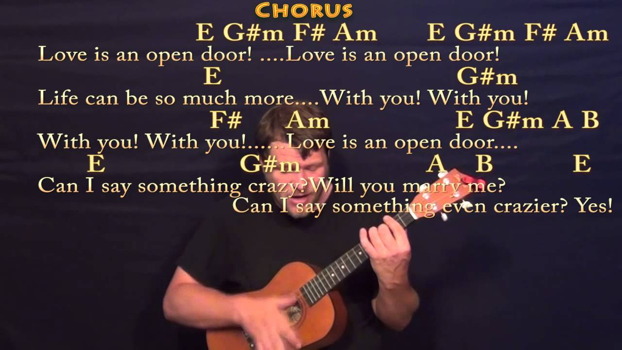 Love is an open door frozen baritone ukulele cover lesson with love is an open door frozen baritone ukulele cover lesson with chords lyrics hexwebz Gallery