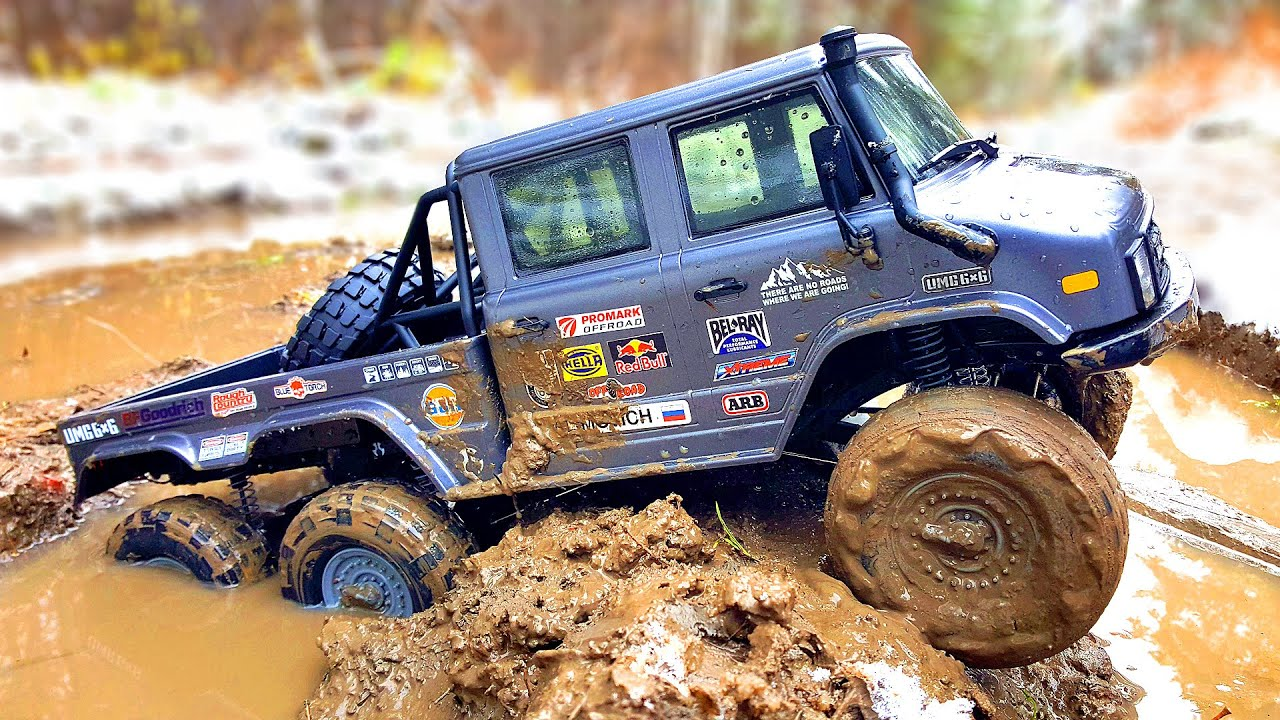 NEW Axial UMG6x6 - MUD OFF Road and ICE Water Racing | Wilimovich