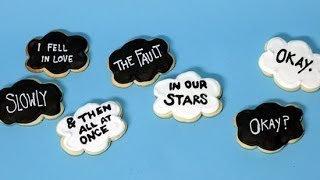How To Make The Fault In Our Stars Cloud Cookies | Just Add Sugar