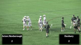 Acton Boxborough Varsity Boys Lacrosse vs Duxbury MIAA Division I Championship Highlights 6/14/14