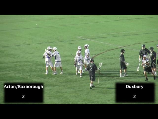 Acton Boxborough Varsity Boys Lacrosse vs Duxbury MIAA Division I Championship Highlights 6/14/14