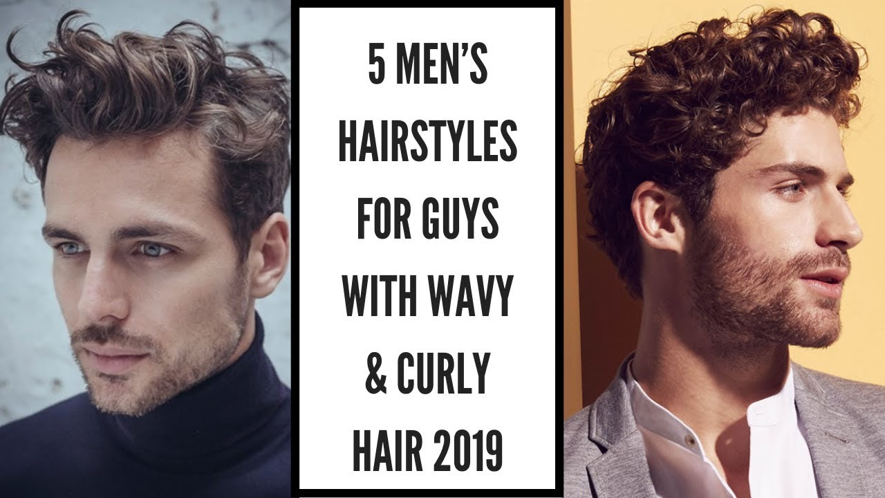 Men wavy hair 9 Black