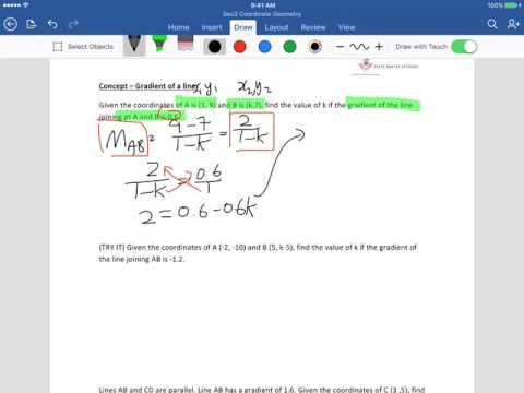 Secondary 3 Coordinate geometry Singapore