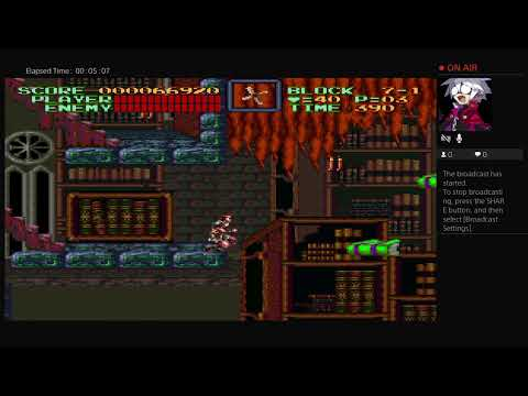 Let's play Super Castlevania 4 part 3 Castlevania anniversary collection |
