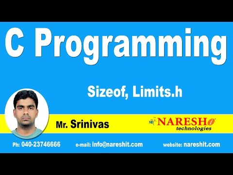Sizeof(), Limits.h in C | C Language Tutorial