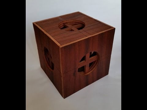 Insanely complicated wooden puzzle box 65 moves