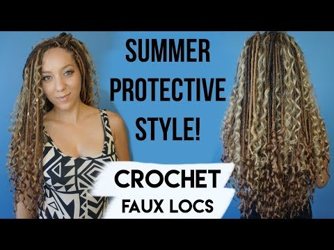 Crochet Faux Locs! Summer Protective Style! | BiancaReneeToday