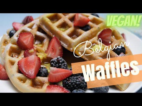 Easy Belgian Waffle Recipe   Vegan Waffle Recipe   Easy Waffles Recipe   Homemade Waffles Recipe