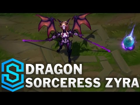 Dragon Sorceress Zyra Skin Spotlight - League of Legends