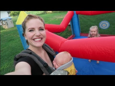Surprising My Toddler With A Bounce House!