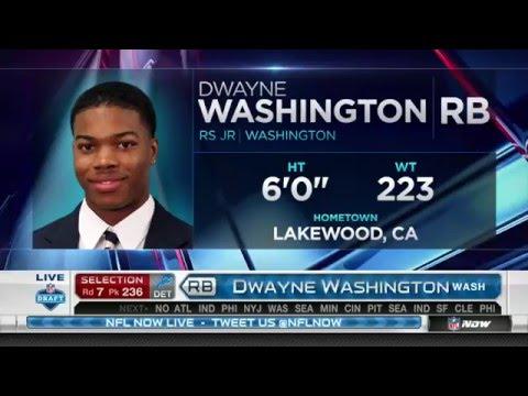 2016 NFL Draft Rd 7 Pk 236 | Detroit Lions Select RB Dwayne Washington